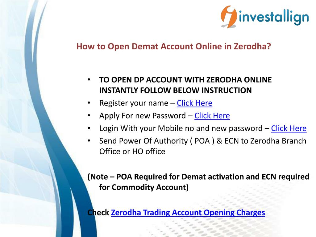 PPT - How to Open Demat Account Online? - Investallign