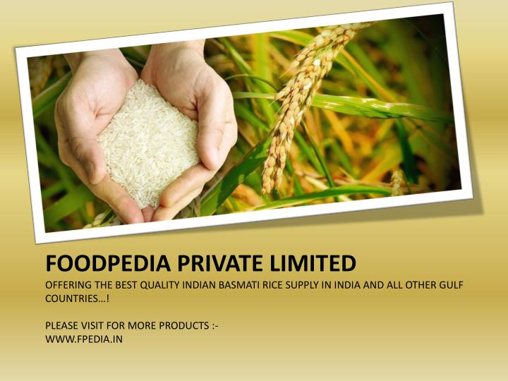 PPT - Best Indian Basmati Rice Suppliers PowerPoint Presentation