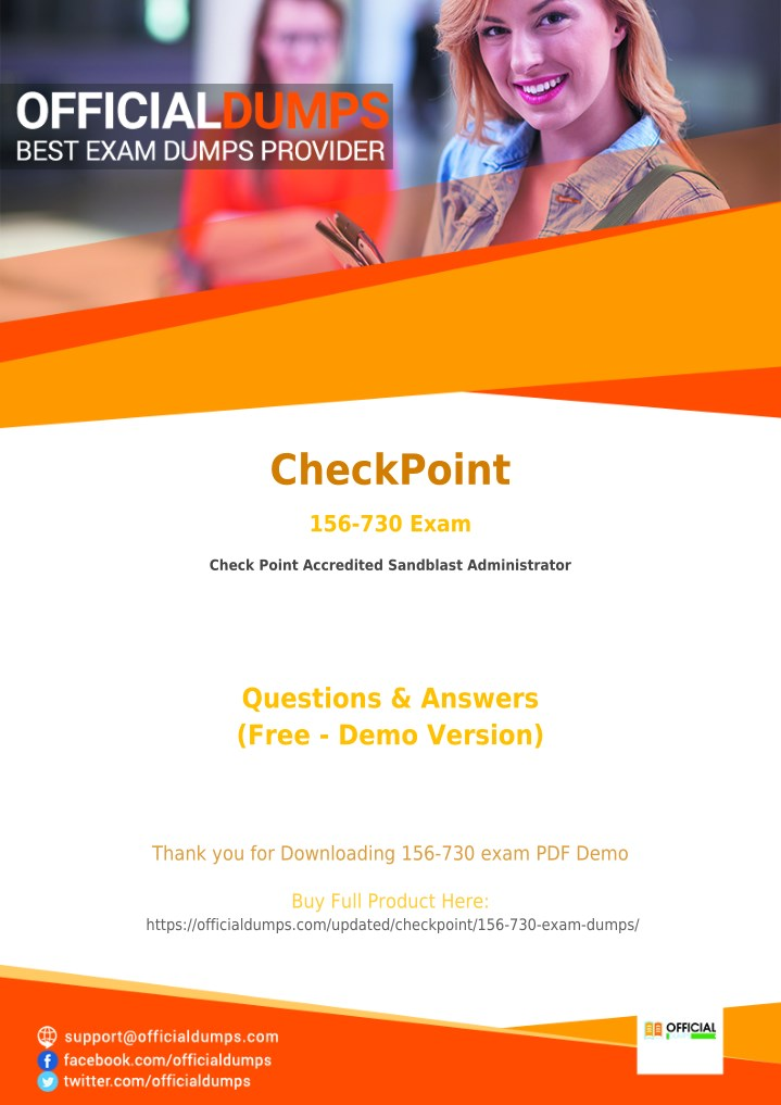 PPT - 156-730 - Learn Through Valid CheckPoint 156-730 Exam