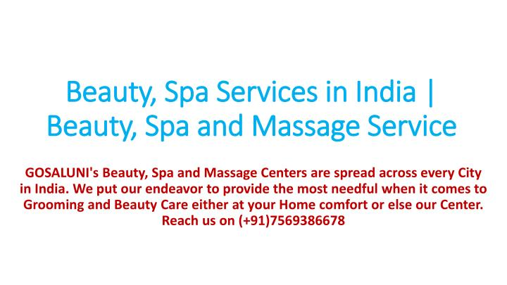beauty spa services in india beauty spa and massage service n.