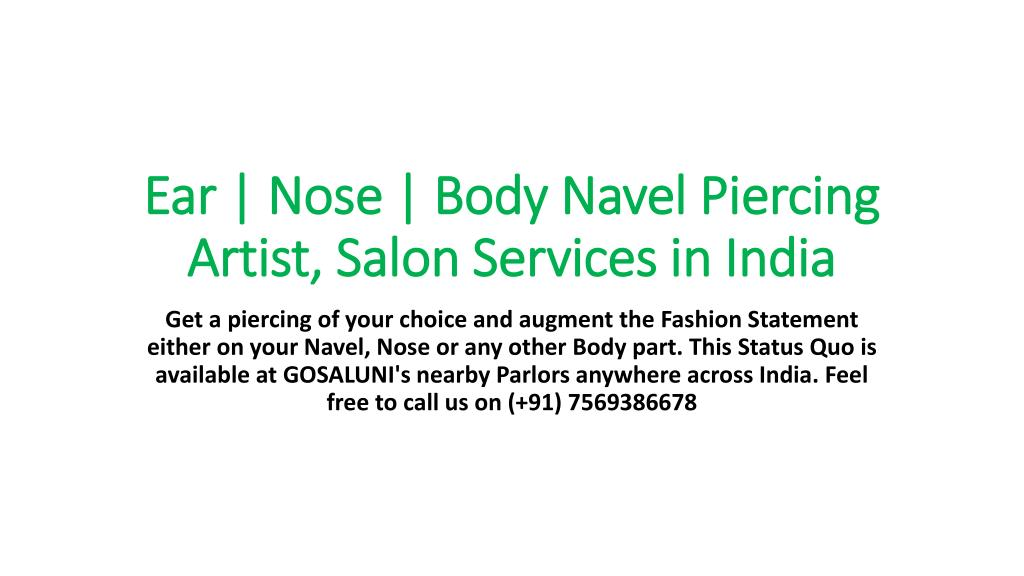 Ppt Ear Piercing Salons At Hyderabad Piercing Powerpoint