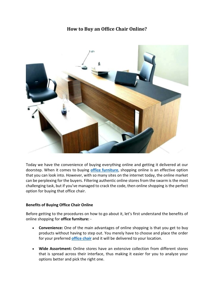 Ppt How To An Office Chair Online