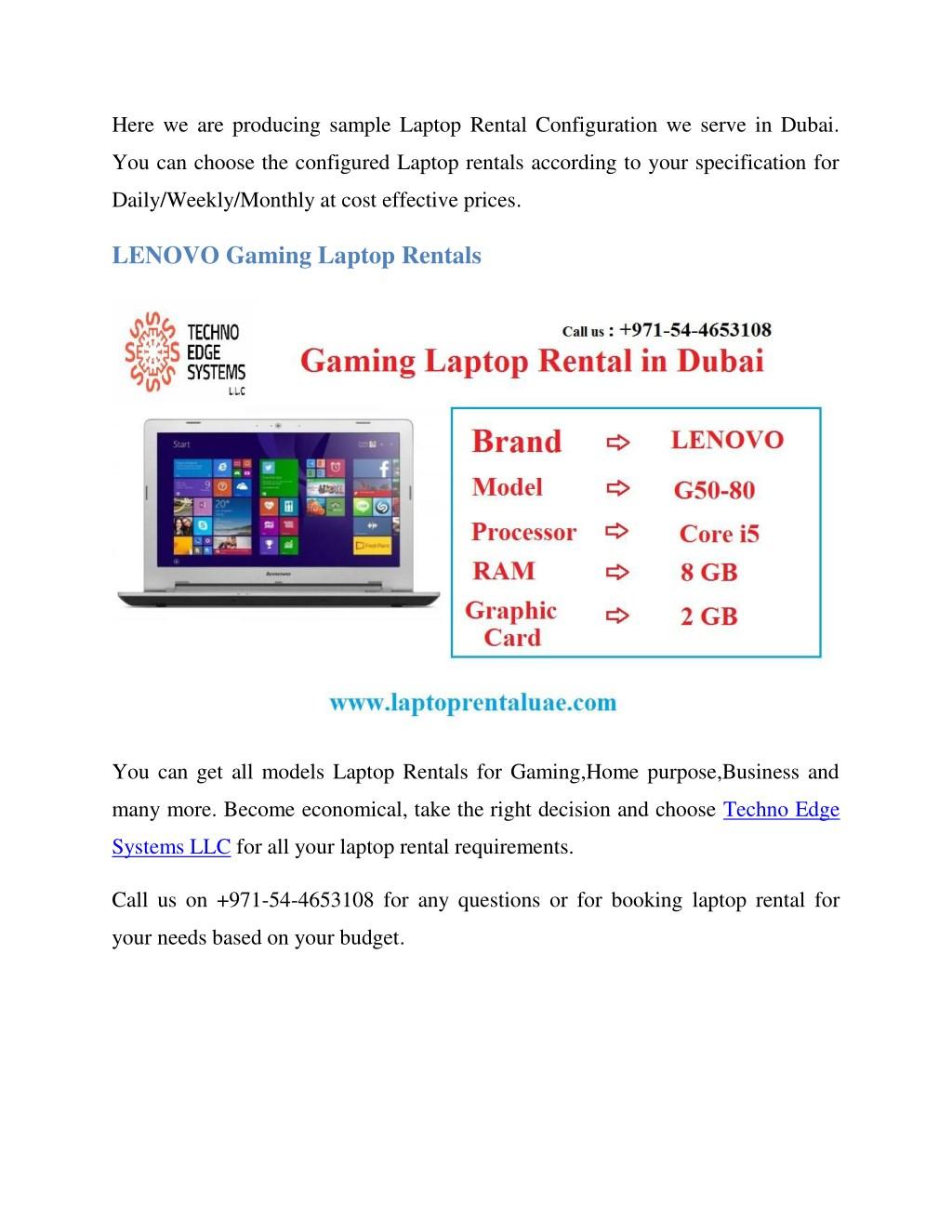 PPT - LENOVO Laptop Rentals in Dubai PowerPoint Presentation