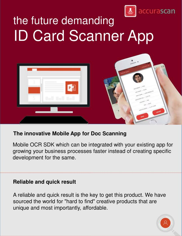 PPT - Download FREE ID Card Scanner App with OCR Reader - Accurascan