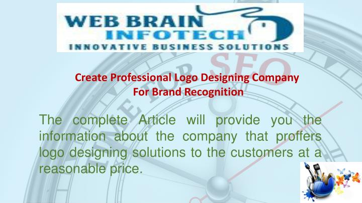 create professional logo designing company n.