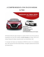 a comprehensive look on 2019 nissan