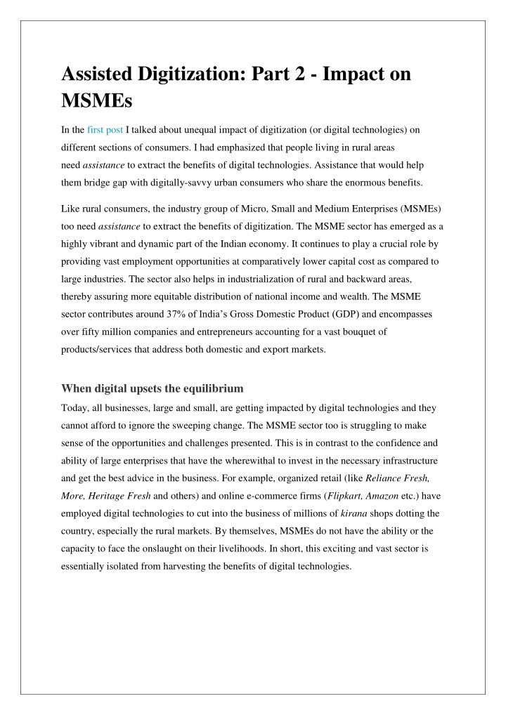 assisted digitization part 2 impact on msmes n.