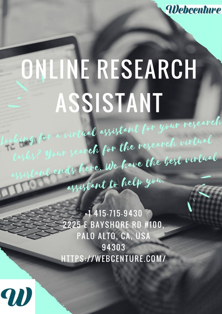 online research assistant looking for a virtual n.