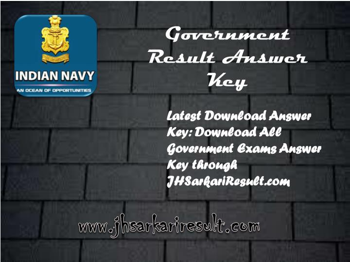government result answer key n.
