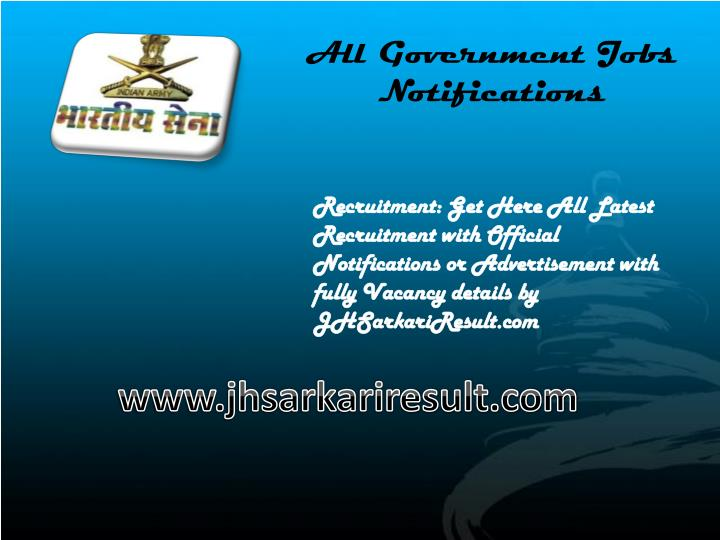 all government jobs notifications n.