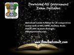 download all government exam syllabus