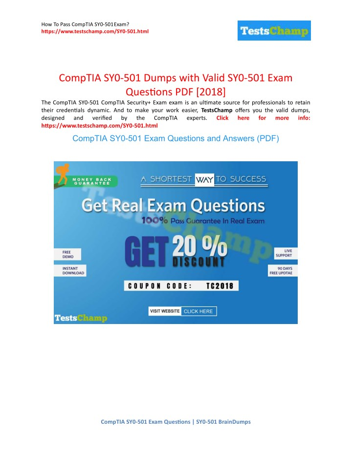 Dump for SY0-501 Exam Practice Q/&A Test PDF VCE Simulator CompTIA Security