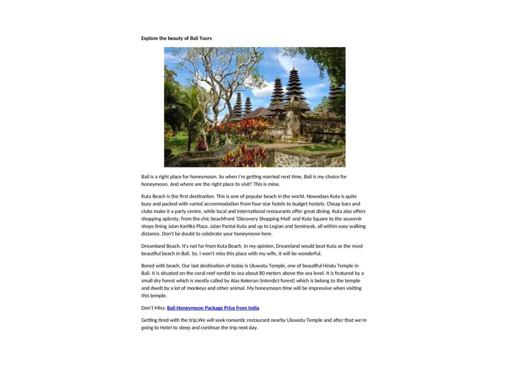 Ppt Enjoy Your Romantic Trip With Bali Honeymoon Packages