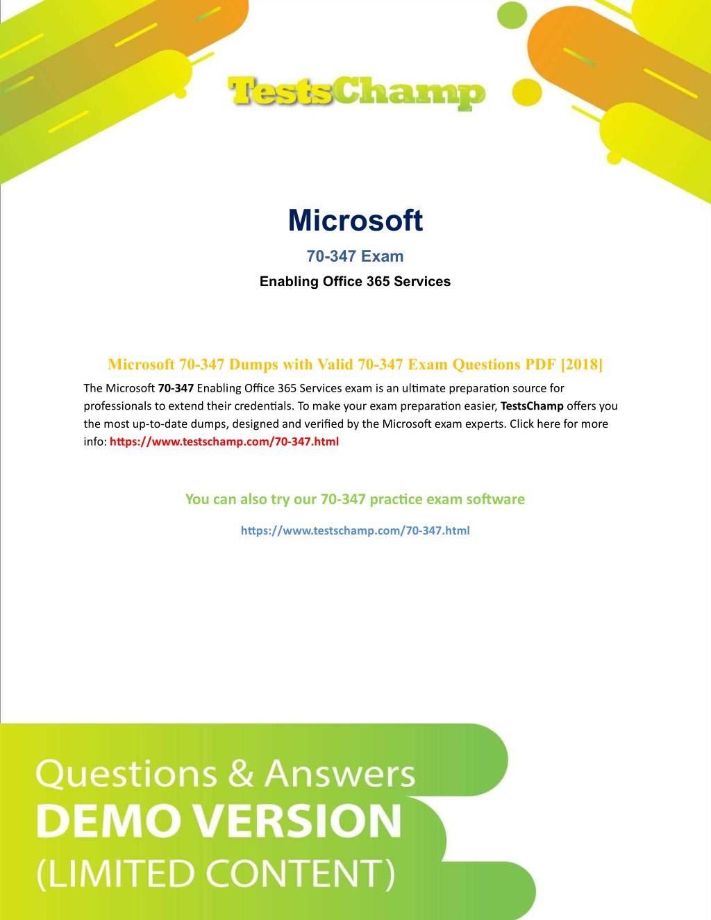 Ppt How To Prepare Microsoft 70 347 Mcp Exam Powerpoint