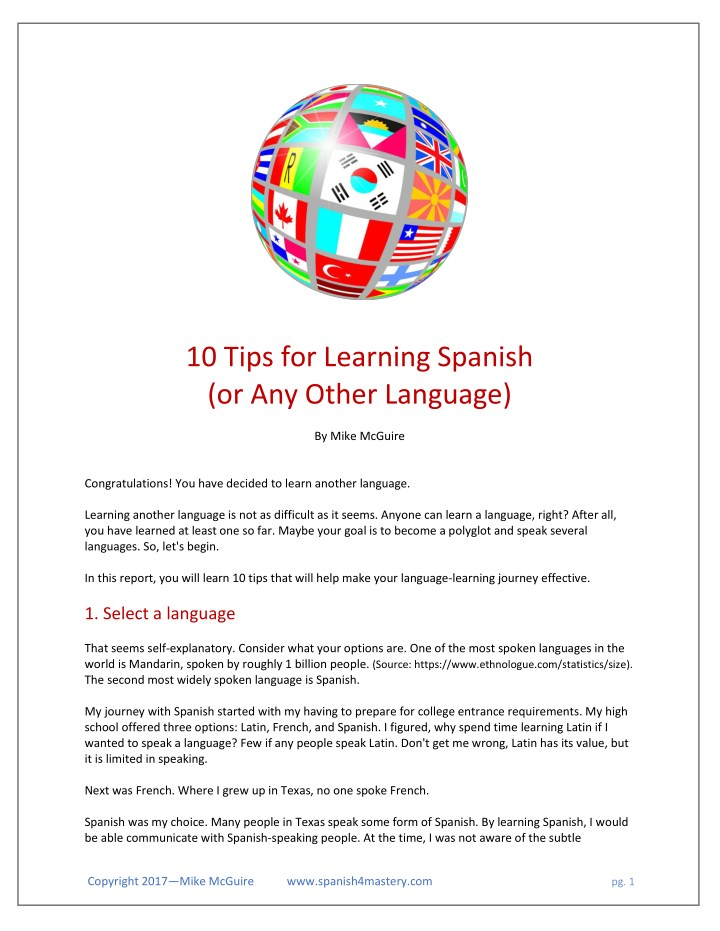 10 tips for learning spanish or any other n.