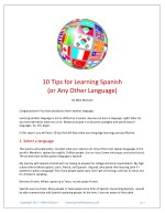 10 tips for learning spanish or any other