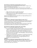 bsa 500 week 2 individual assignment business