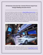 all american limousine has a variety of service