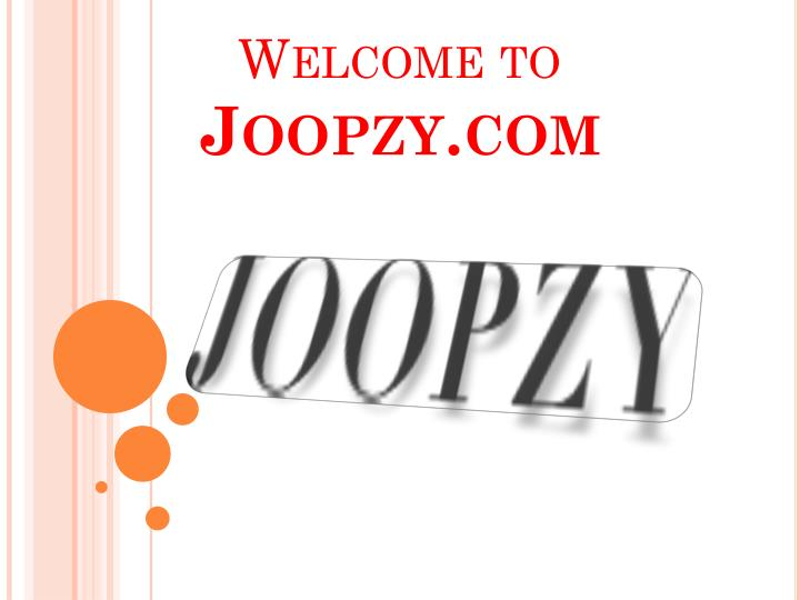 welcome to joopzy com n.