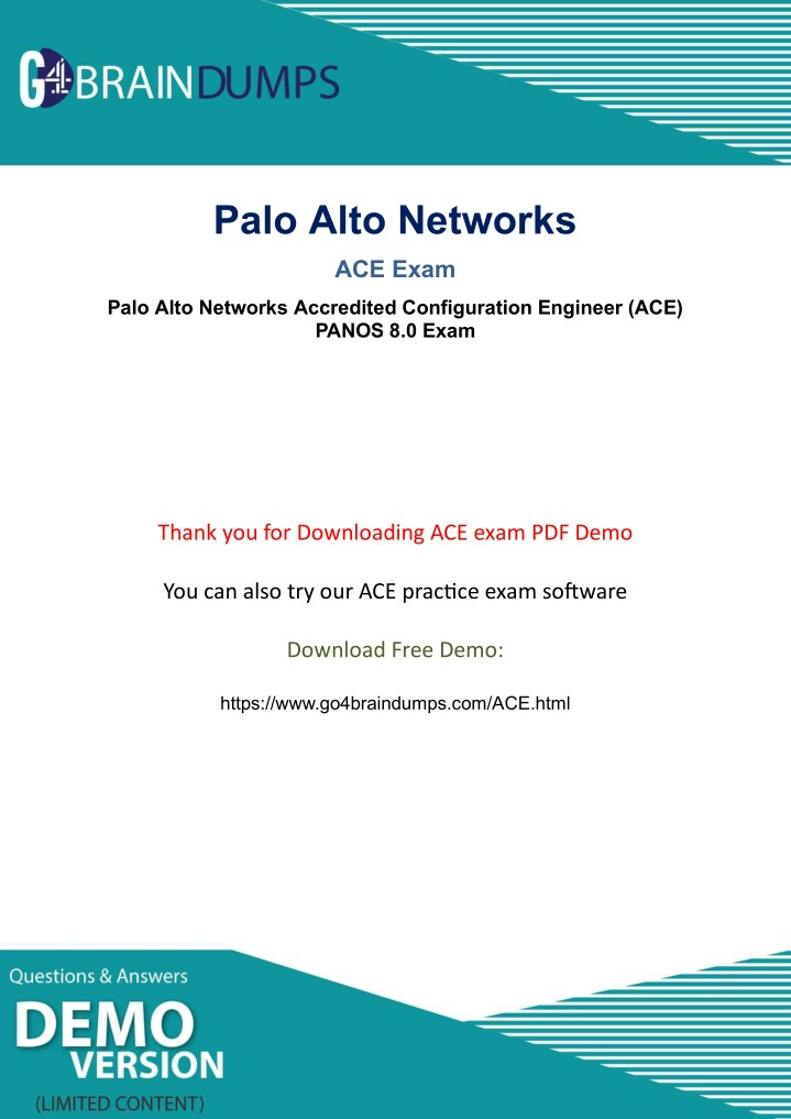 Ppt Paloalto Networks Ace Exam Dumps Pdf Updated 2018 Powerpoint