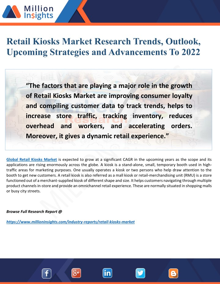 retail kiosks market research trends outlook n.