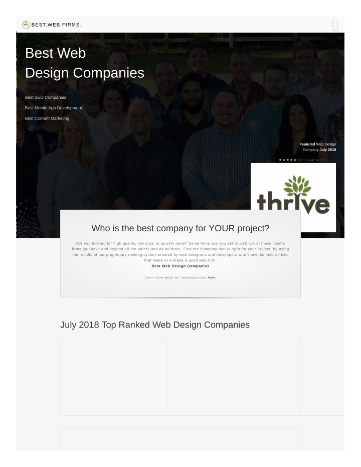 Ppt The Top 10 Best Web Design Companies Of July 2018 Powerpoint Presentation Id 7934988