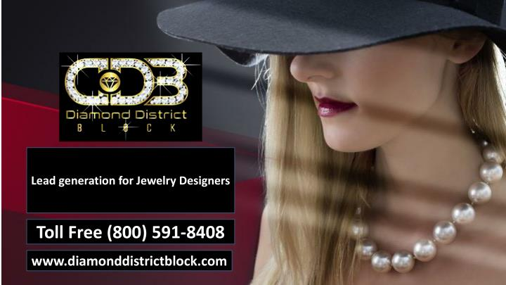 lead generation for jewelry designers n.