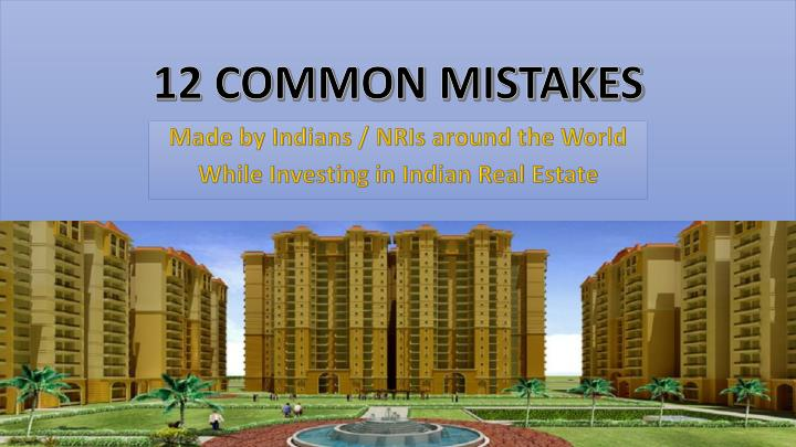 12 common mistakes n.