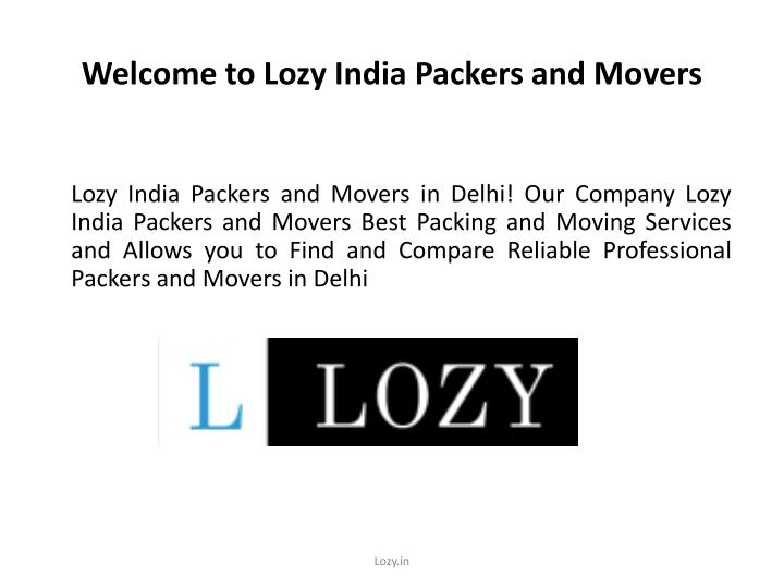 welcome to lozy india packers and movers n.