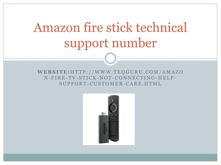 PPT - That Knowing Amazon Fire Stick Support Could Be So