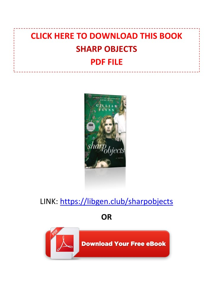 Ppt pdf free download sharp objects by gillian flynn powerpoint click here to download this book sharp objects pdf file fandeluxe Gallery