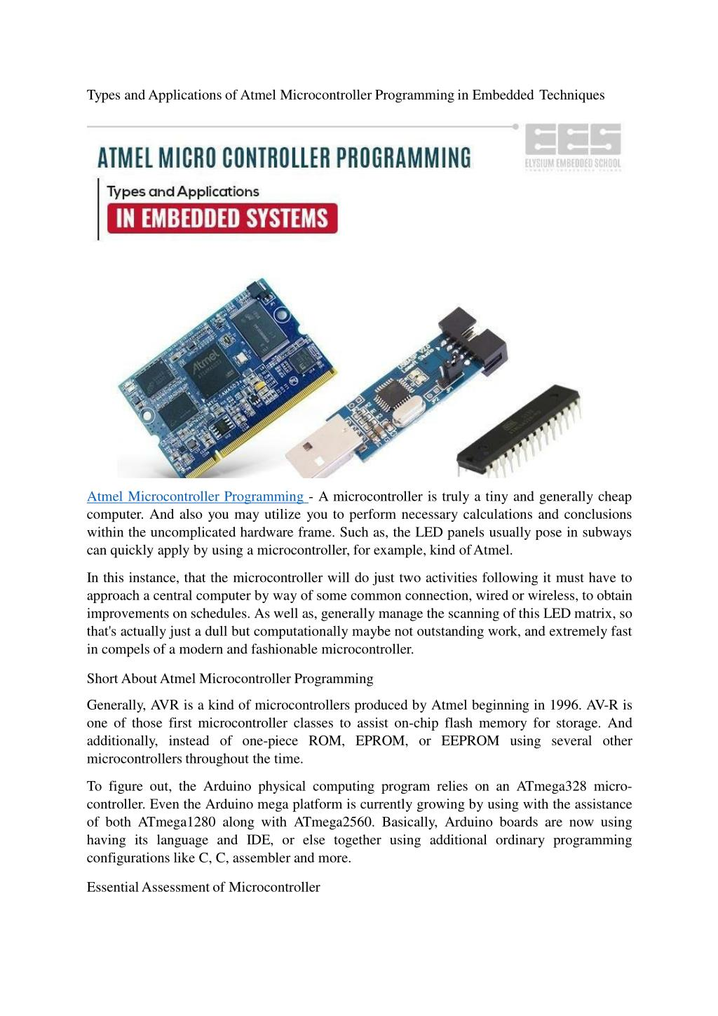 Ppt Atmel Microcontroller Programming Powerpoint Presentation Id 8051 Flash Based Programmer Electronic Types And Applications Of N