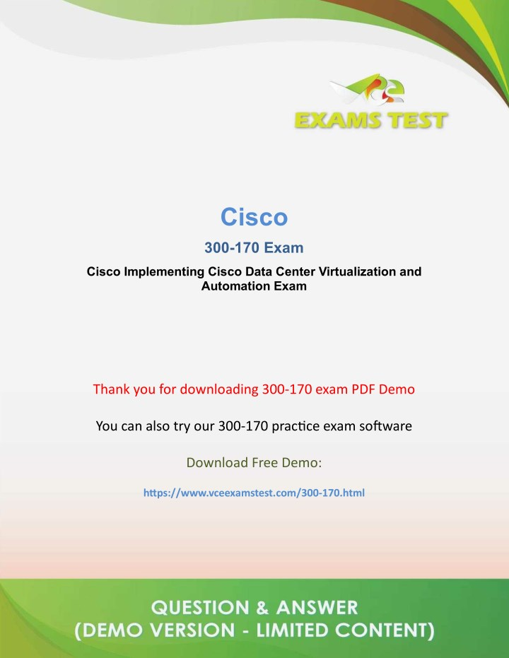 ppt get latest cisco 300 170 vce exam 2018 [download and preparequestions \u0026 answers pdf