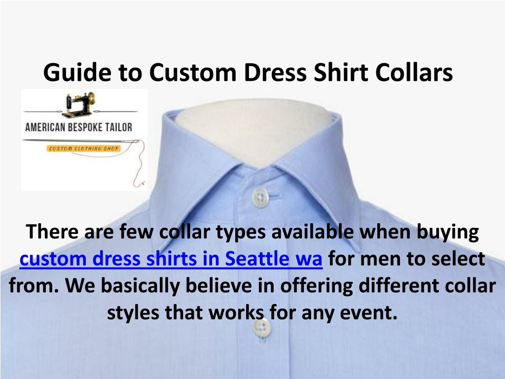 Ppt Custom White Dress Shirts Choose The Right Collar Powerpoint