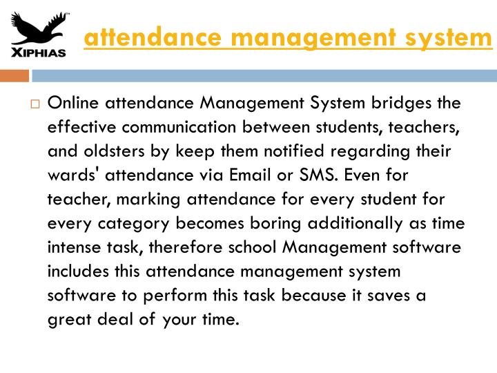 Attendance management system ppt