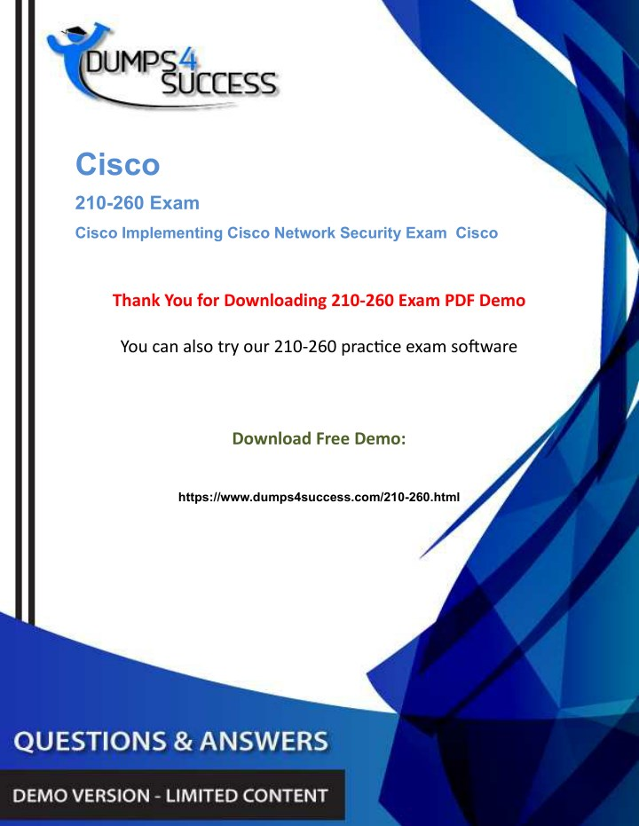 PPT - Cisco 210-260 Dumps Question - Network Security [210-260] Exam