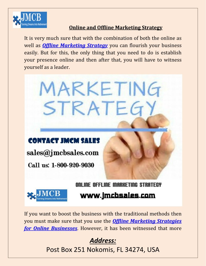 online and offline marketing strategy n.
