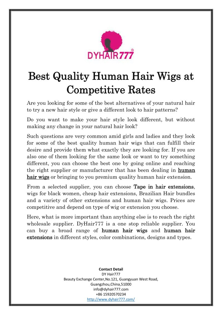 best quality human hair wigs at best quality n.