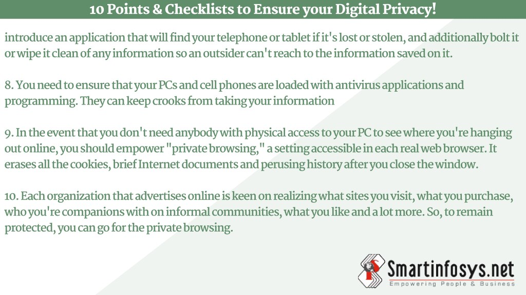 PPT - 10 Points & Checklists to Ensure Your Digital Privacy