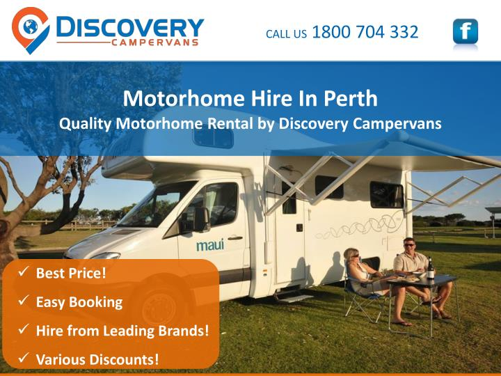 motorhome hire in perth quality motorhome rental by discovery campervans n.
