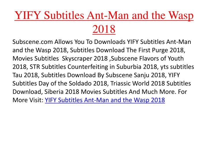 ant man and the wasp yify