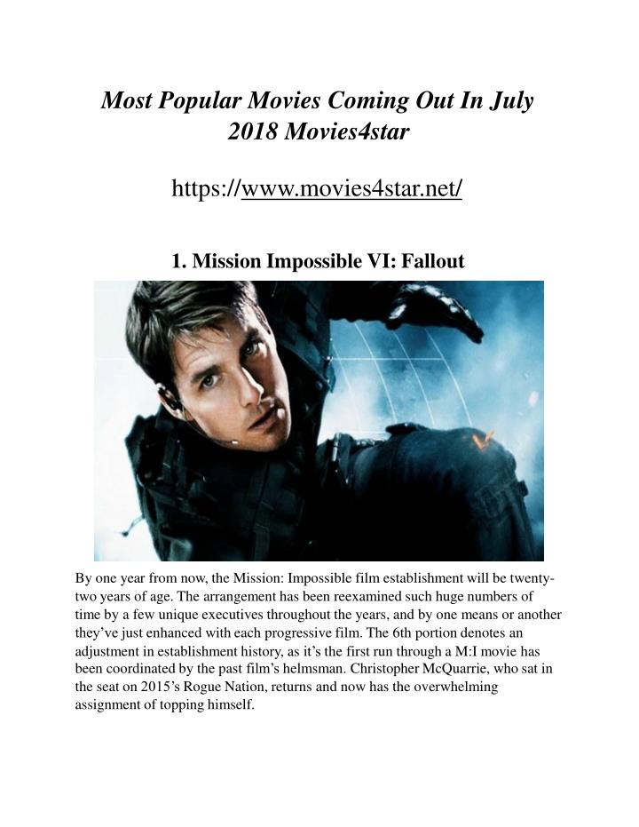most popular movies coming out in july 2018 movies4star n.