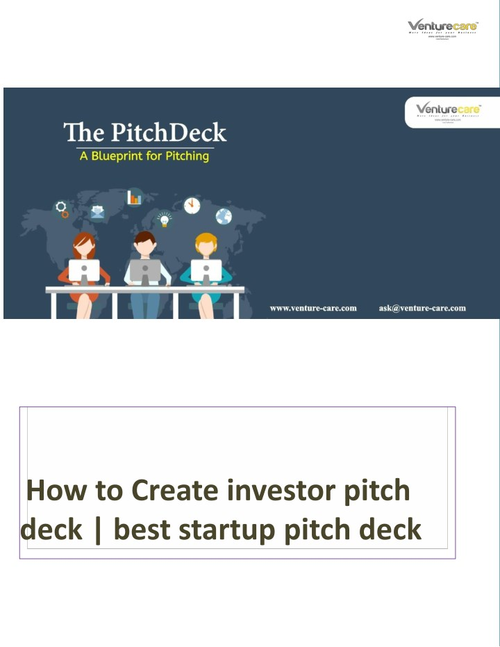 PPT - How to Create investor pitch deck | Pitch Deck ideas