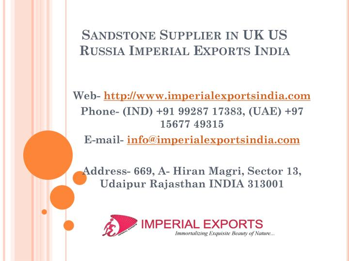 sandstone supplier in uk us russia imperial exports india n.