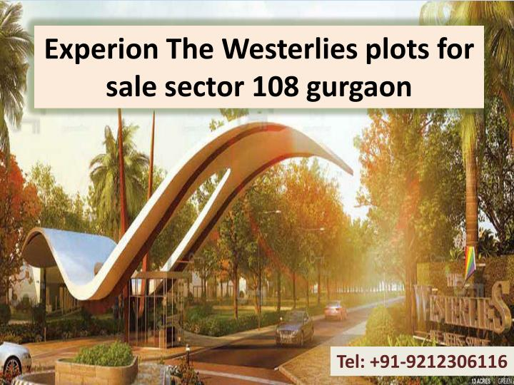 experion the westerlies plots for sale sector 108 gurgaon n.