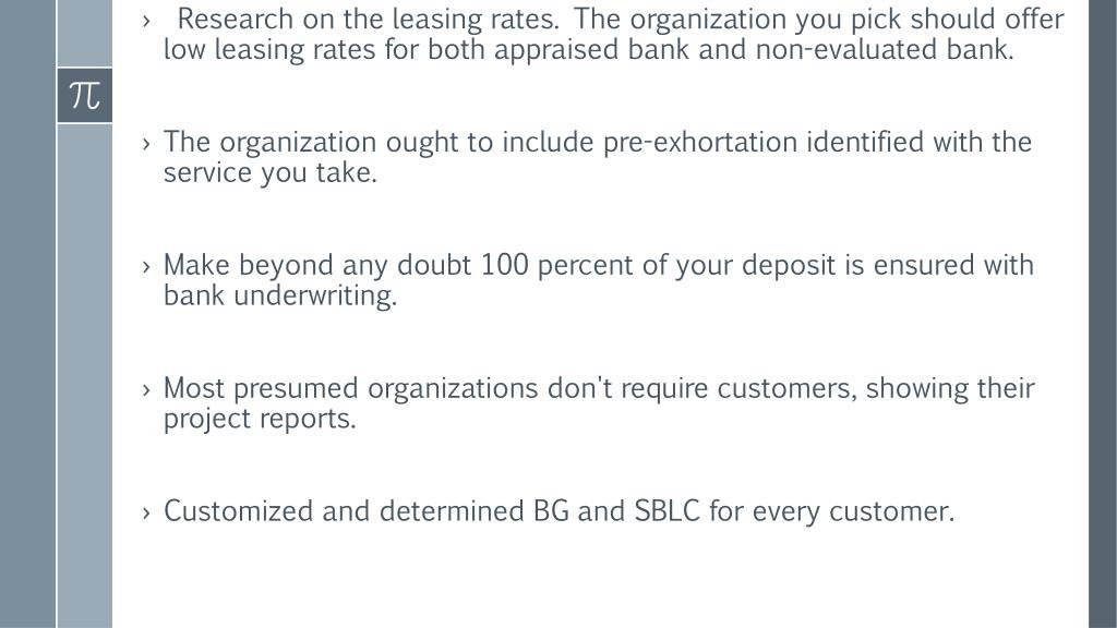 PPT - Best lease SBLC Providers - www banksinstruments com