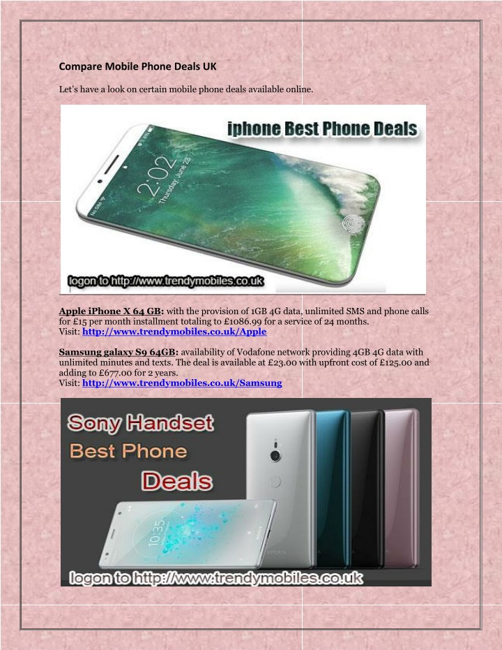 compare mobile phone deals uk let s have a look n.