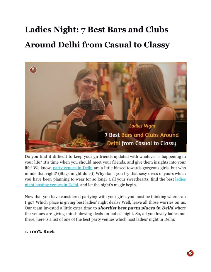 12b3907de3f PPT - Ladies Night  7 Best Bars and Clubs Around Delhi from Casual ...