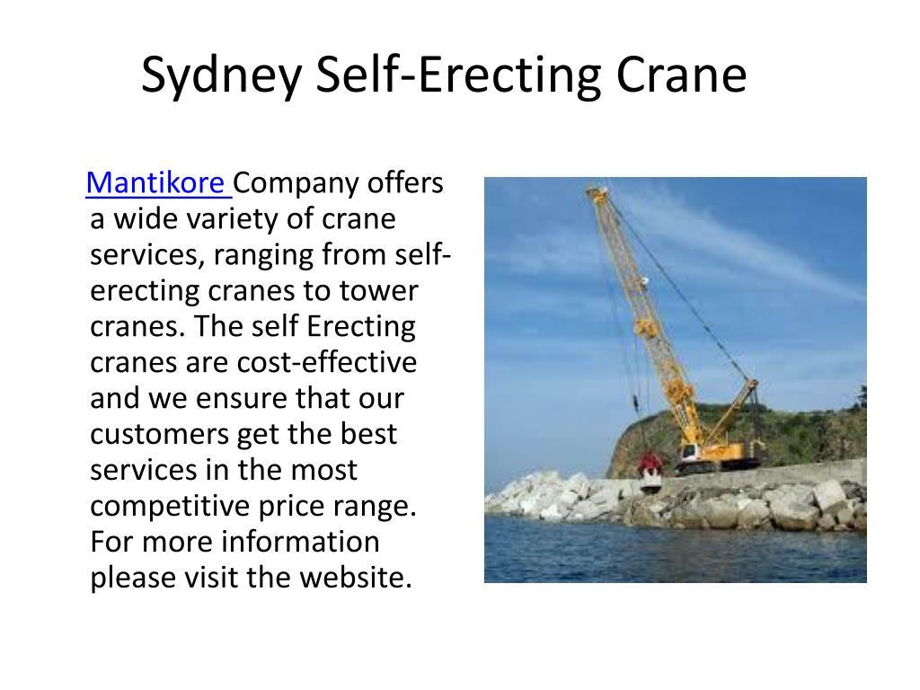 PPT - Crane Hire Sydney PowerPoint Presentation - ID:7945515