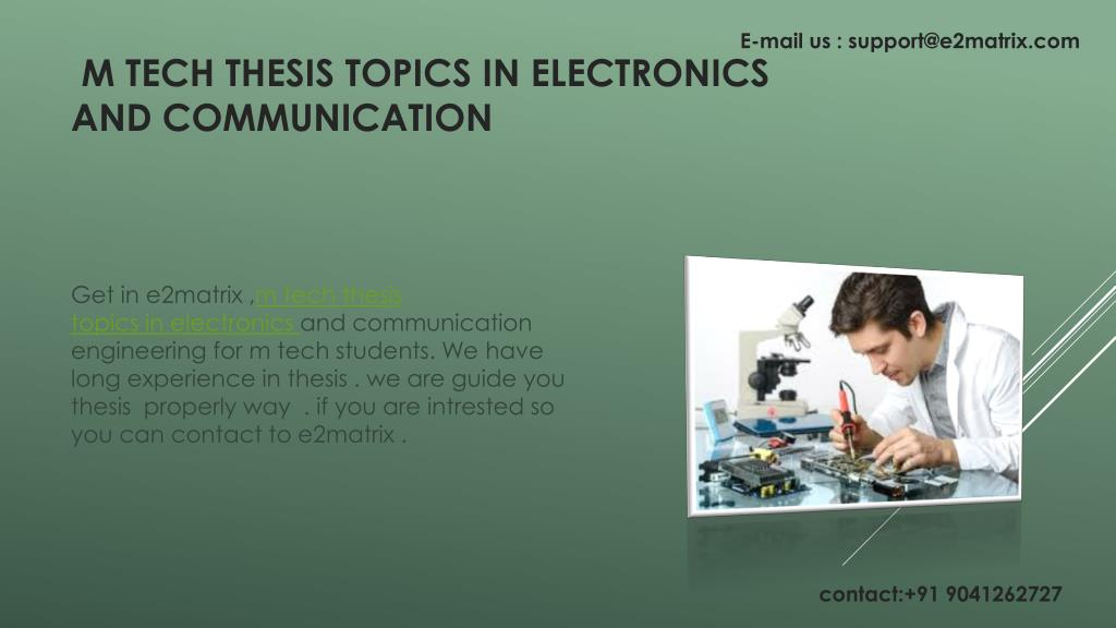 M tech thesis in electronics and communication esl problem solving proofreading service ca